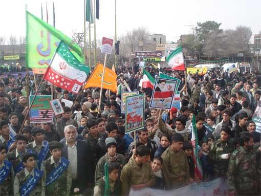 حضور پرشور و شعور مردم خمینی شهر در راهپیمایی 22 بهمن 1387